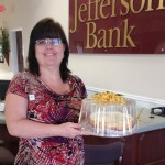 Leah Novembre of Jefferson Bank The Lemon Cheesecake with Gingersnap Crust